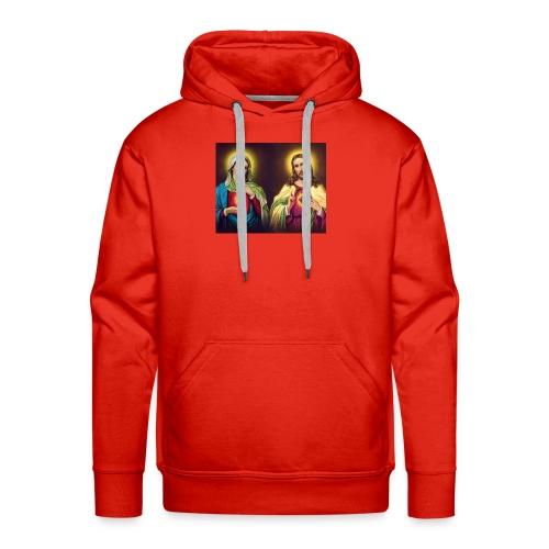 Coeurs unis de Jésus et Marie - Sweat-shirt à capuche Premium pour hommes