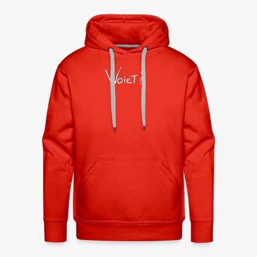 Woiet wit. - Mannen Premium hoodie