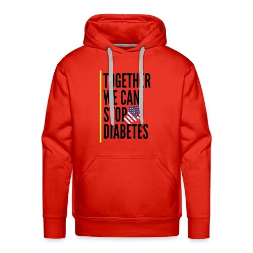 Together We Can Stop Diabetes world diabetes day - Sweat-shirt à capuche Premium pour hommes