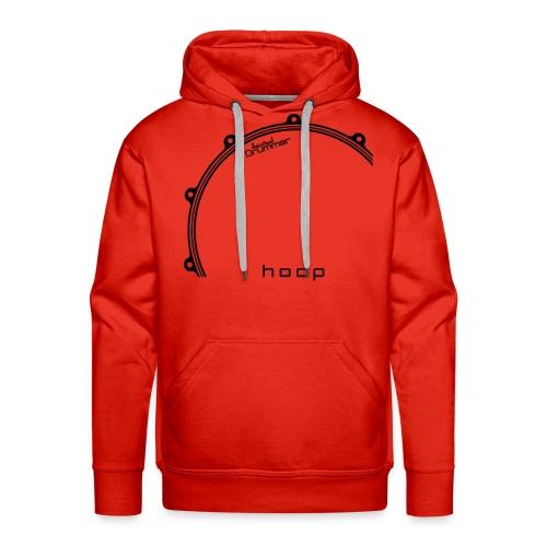 Hoop Design Black - Sweat-shirt à capuche Premium pour hommes