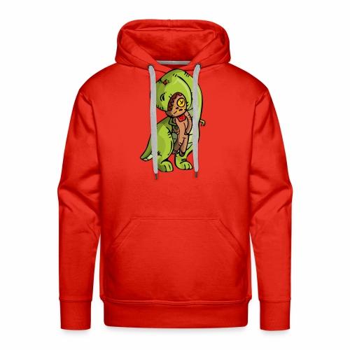 Dinosaurio vodoo - Sudadera con capucha premium para hombre