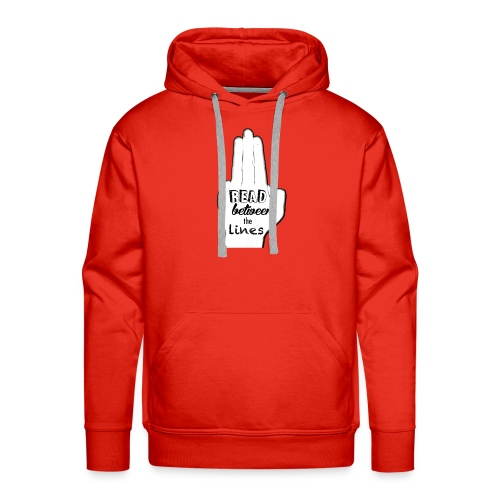 read_between_the_lines - Mannen Premium hoodie