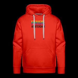 Pride Amsterdam in regenboog kleur en zwart - Mannen Premium hoodie