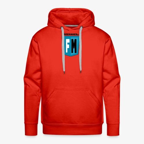 Logo Freemaker - Felpa con cappuccio premium da uomo
