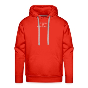 POWERED BY MORERAWFOOD WEISSER TEXT - Männer Premium Hoodie
