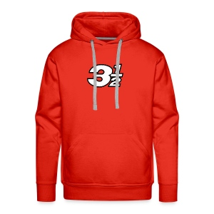 Three and a Half Logo - Men's Premium Hoodie