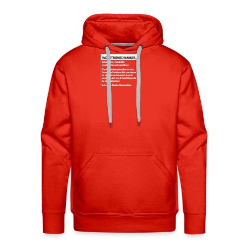 Industriemachaniker Defintion - Männer Premium Hoodie