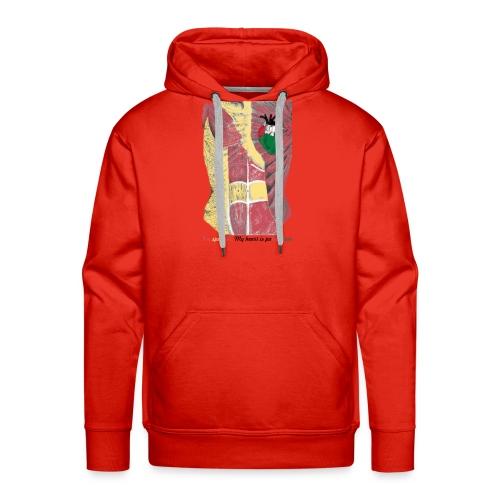 CamisetaMy heart is palestinian versión española - Sudadera con capucha premium para hombre