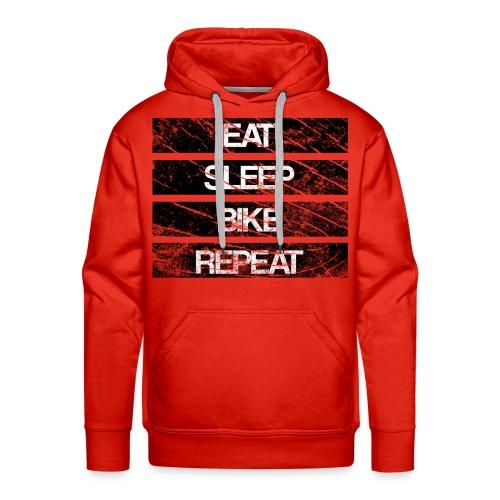 eat sleep bike repeat Used look - Männer Premium Hoodie