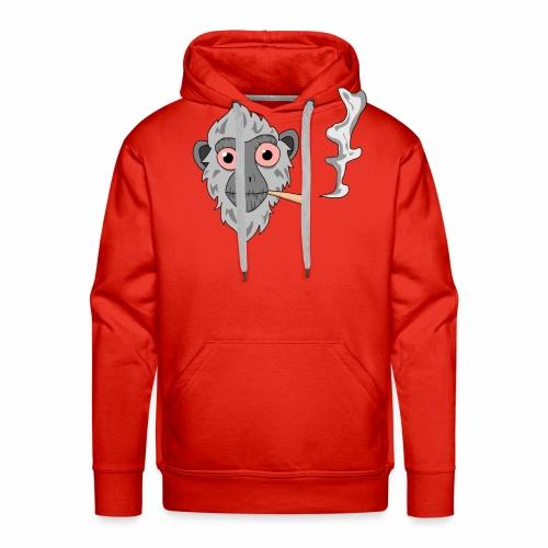 Smoking monkey - Sweat-shirt à capuche Premium pour hommes