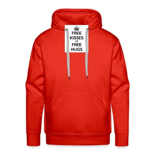 free kisses or free hugs - Mannen Premium hoodie