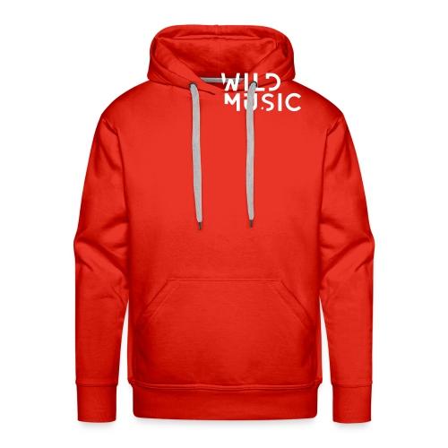 Wild Music Logo - Blanco - Sudadera con capucha premium para hombre