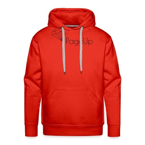 PageUp on logo snapback - Men's Premium Hoodie