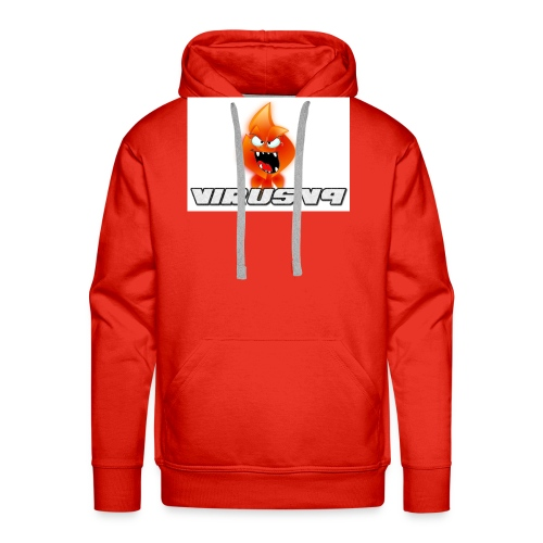 Virusv9 Weiss - Männer Premium Hoodie