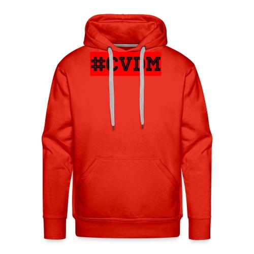 Maglietta uomo bianca #CVDM - Felpa con cappuccio premium da uomo