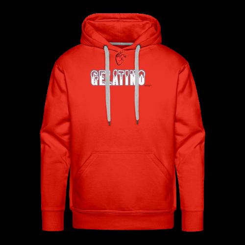 PuntoACapo - I ♥ Gelatino- - Felpa con cappuccio premium da uomo