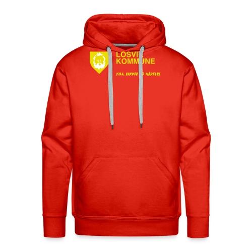 Losvik kommune - Premium hettegenser for menn
