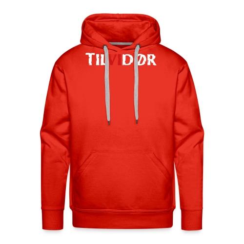 TILVIDØR LOGO - Herre Premium hættetrøje