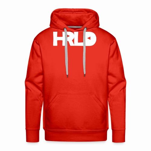 HRLD White Logo - Miesten premium-huppari