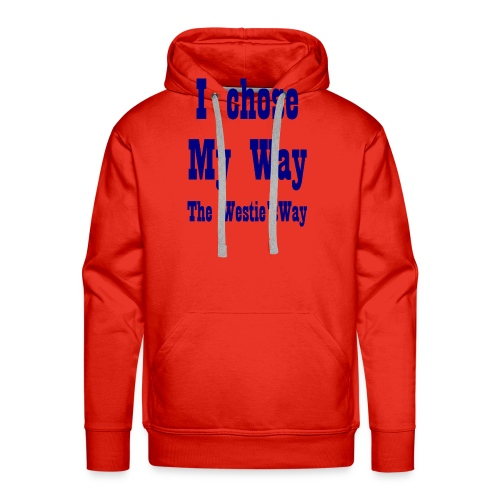 I chose My Way Navy - Men's Premium Hoodie