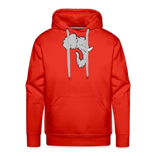 Elefante Perfil - Sudadera con capucha premium para hombre