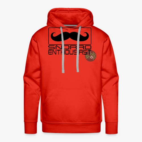 Snorro enthusiastic (black) - Men's Premium Hoodie