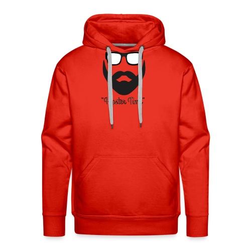 Hipster time - Sudadera con capucha premium para hombre