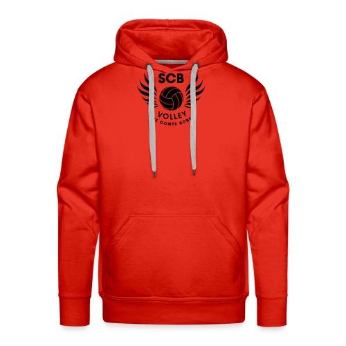 LogosVolleyBall MonochromeNoir - Sweat-shirt à capuche Premium pour hommes