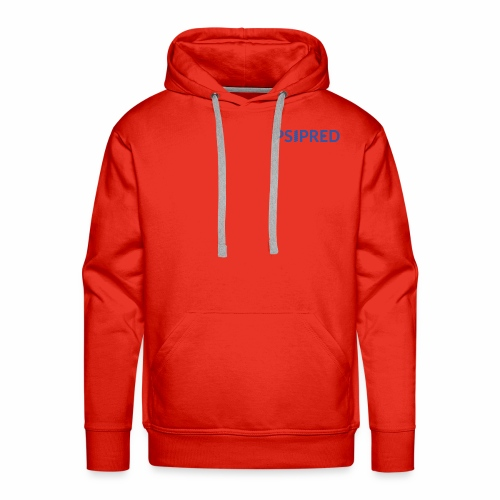 Logo in blue - Men's Premium Hoodie