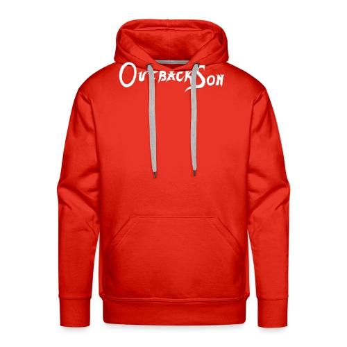 outbackson schriftzug weiß - Männer Premium Hoodie