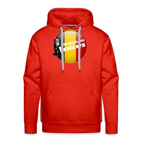 Je soutiens Belgium Voices - Sweat-shirt à capuche Premium pour hommes