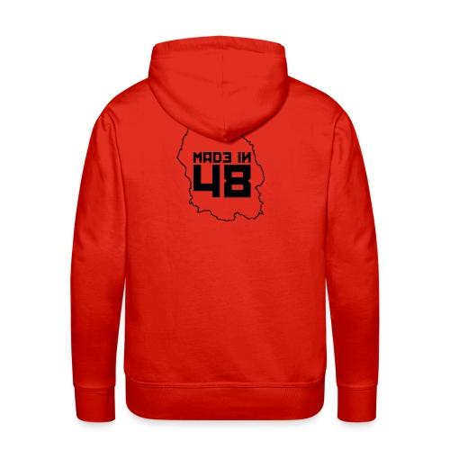 made in 48 1 noir png - Sweat-shirt à capuche Premium pour hommes