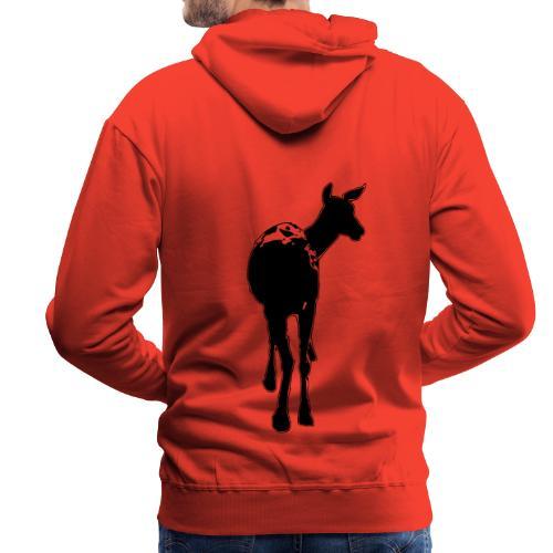 Reh deer Hirschkuh Silhouette - Männer Premium Hoodie