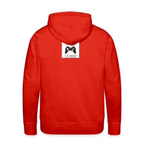 Sweats je peux pas jai console - Sweat-shirt à capuche Premium pour hommes