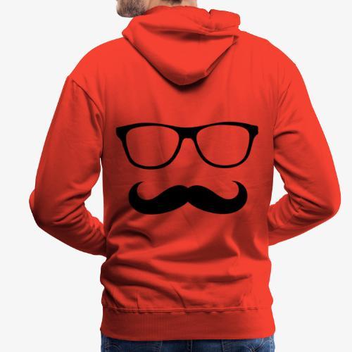gafas y bigote - Sudadera con capucha premium para hombre