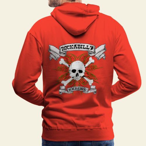 Rockabilly Raredog Skull - Herre Premium hættetrøje