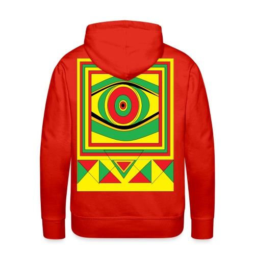 ALL seeing eye RASTA burn down babylon Original - Mannen Premium hoodie