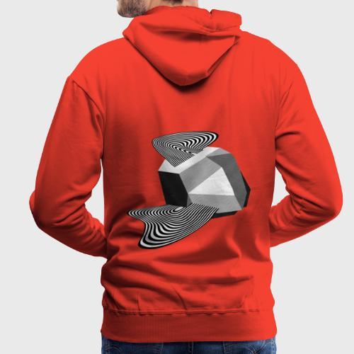 Sharp Curves - Sweat-shirt à capuche Premium pour hommes