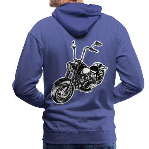 Moto Softail - Sudadera con capucha premium para hombre