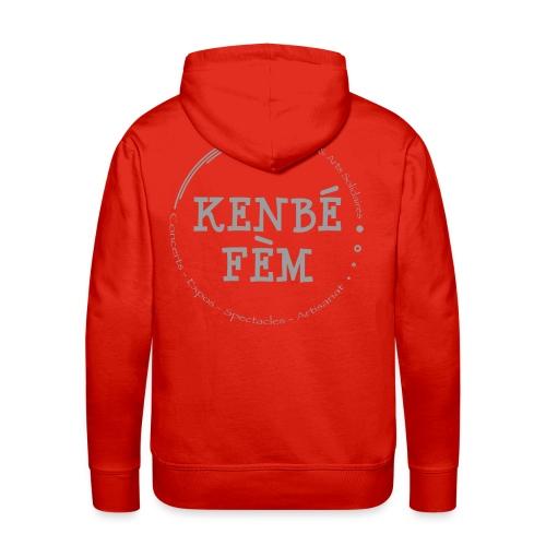 KenbeFem Back Gris png - Sweat-shirt à capuche Premium pour hommes
