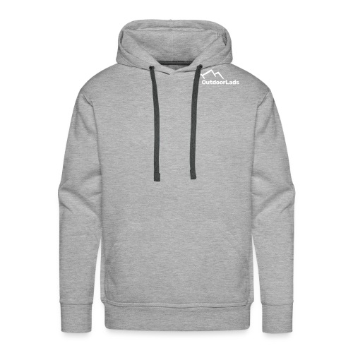 New OutdoorLads Logo Wht - Men's Premium Hoodie
