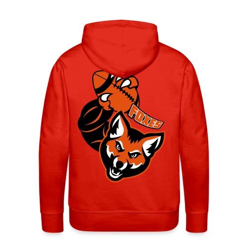 Foxes Rugby - Sweat-shirt à capuche Premium pour hommes