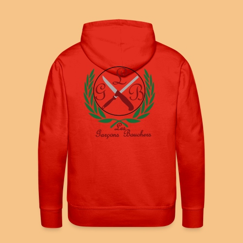 LOGO LES GARÇONS BOUCHERS - Sweat-shirt à capuche Premium pour hommes