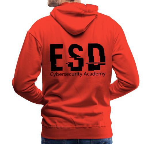 Design ESD Cybersecurity Academy - Sweat-shirt à capuche Premium pour hommes