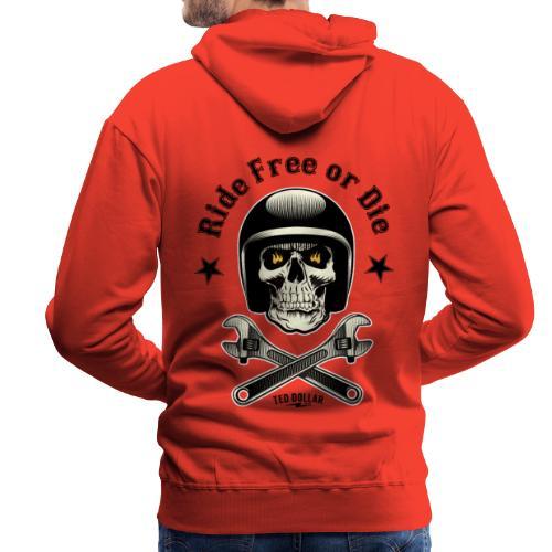 Ride free or die - Sweat-shirt à capuche Premium pour hommes