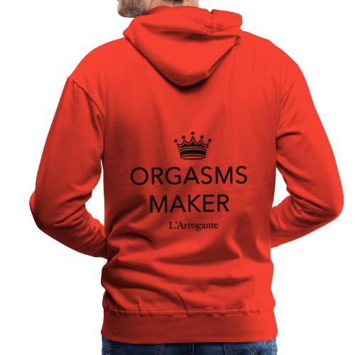 Orgasms maker - Felpa con cappuccio premium da uomo