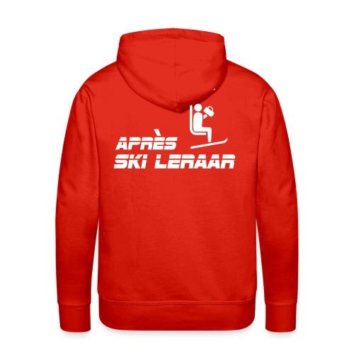 apres ski leraar - Mannen Premium hoodie