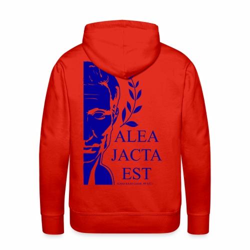 ALEA JACTA EST azulgigante - Sudadera con capucha premium para hombre