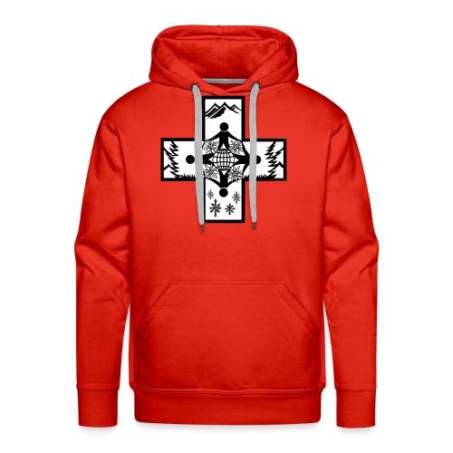 croix suisse - Sweat-shirt à capuche Premium pour hommes