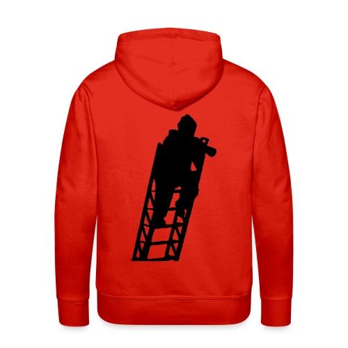 Un Sapeur Pompier sur échelle - Sweat-shirt à capuche Premium pour hommes